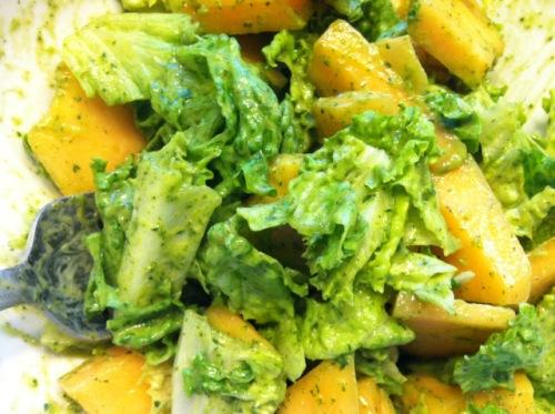 melon-lettuce-salad